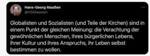 """Maaßen: """"Globalisten und Sozialisten"""""""