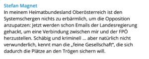 Stefan Magnet auf Telegram (16.9.21)