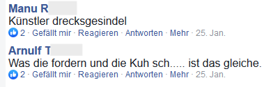 """Manu R und Arnulf T im FPÖ Fan Club: """"Drecksgesindel"""" """"Kuh sch....."""""""