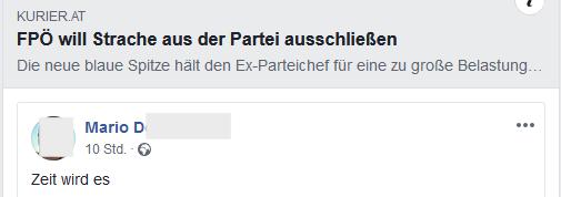 """Mario D. zu Strache Ausschluss: """"Zeit wird es"""""""