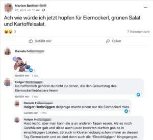 """Marion: """"hüpfen für Eiernockerl"""""""