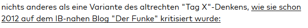 """der Identitäre Martin Lichtmesz: der """"IB-nahe Blog 'Der Funke'"""""""