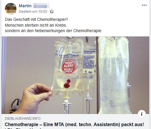 """Martin: """"Das Geschäft mit der Chemotherapie"""""""