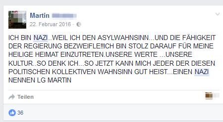 """Martin: """"Ich bin Nazi"""""""