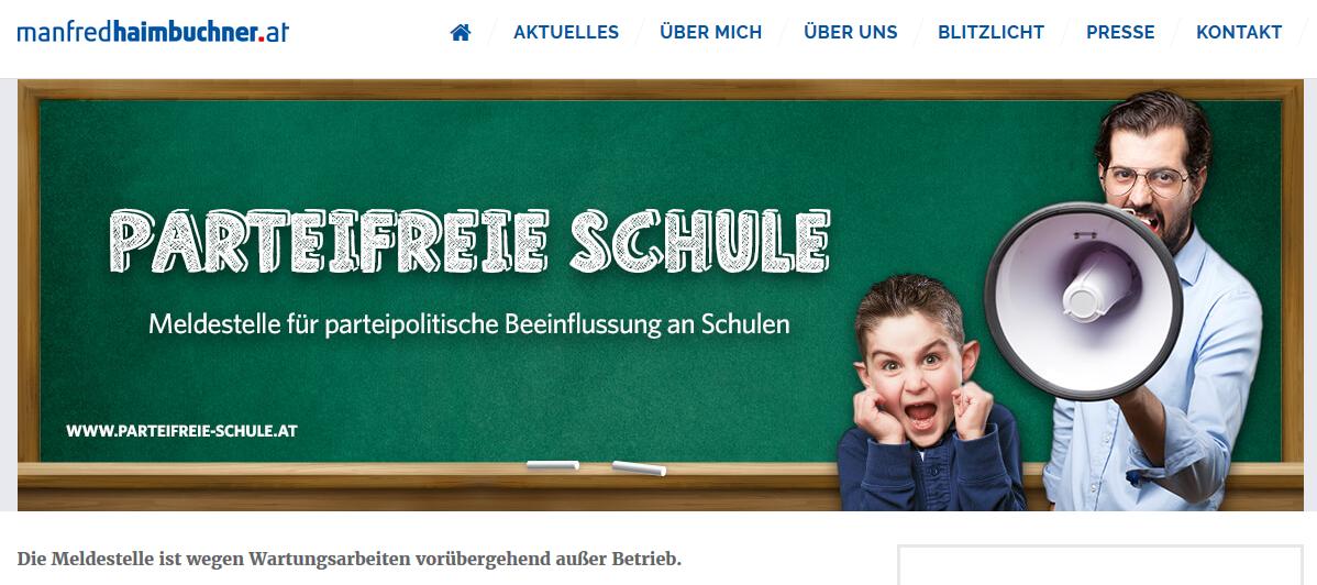 """""""Meldestelle 'Parteifreie Schule'"""" der FPÖ in OÖ ist """"vorübergehend außer Betrieb."""""""
