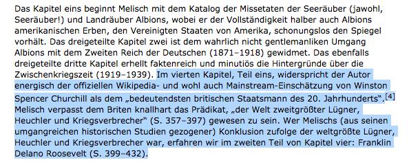"""Stracke referiert Melisch: Roosevelt als """"der weltgrößte Lügner, Heuchler und Kriegsverbrecher"""", Churchill sei """"der Welt zweitgrößter Lügner"""""""