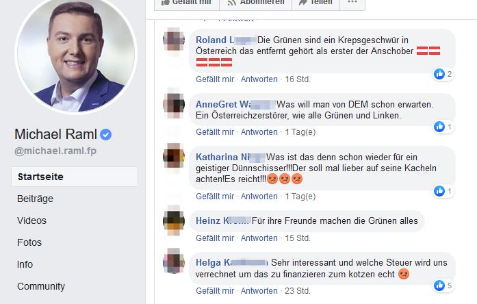 "Über die Grünen/Anschober: ""Krepsgeschwür"", ""Österreichzerstörer"", ""geistiger Dünschiss"""