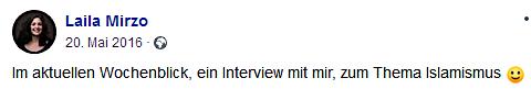 "Mirzo im ""Wochenblick"" (Screenshot Facebook)"