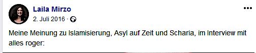 "Mirzo in ""alles roger?"" (Screenshot Facebook)"