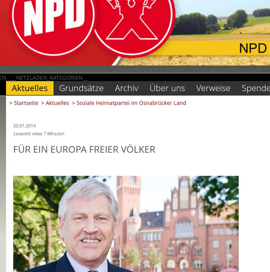 NPD Osnabrück: Für ein Europa freier Völker