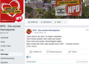 NPD mit Fake-Zitat von Körner