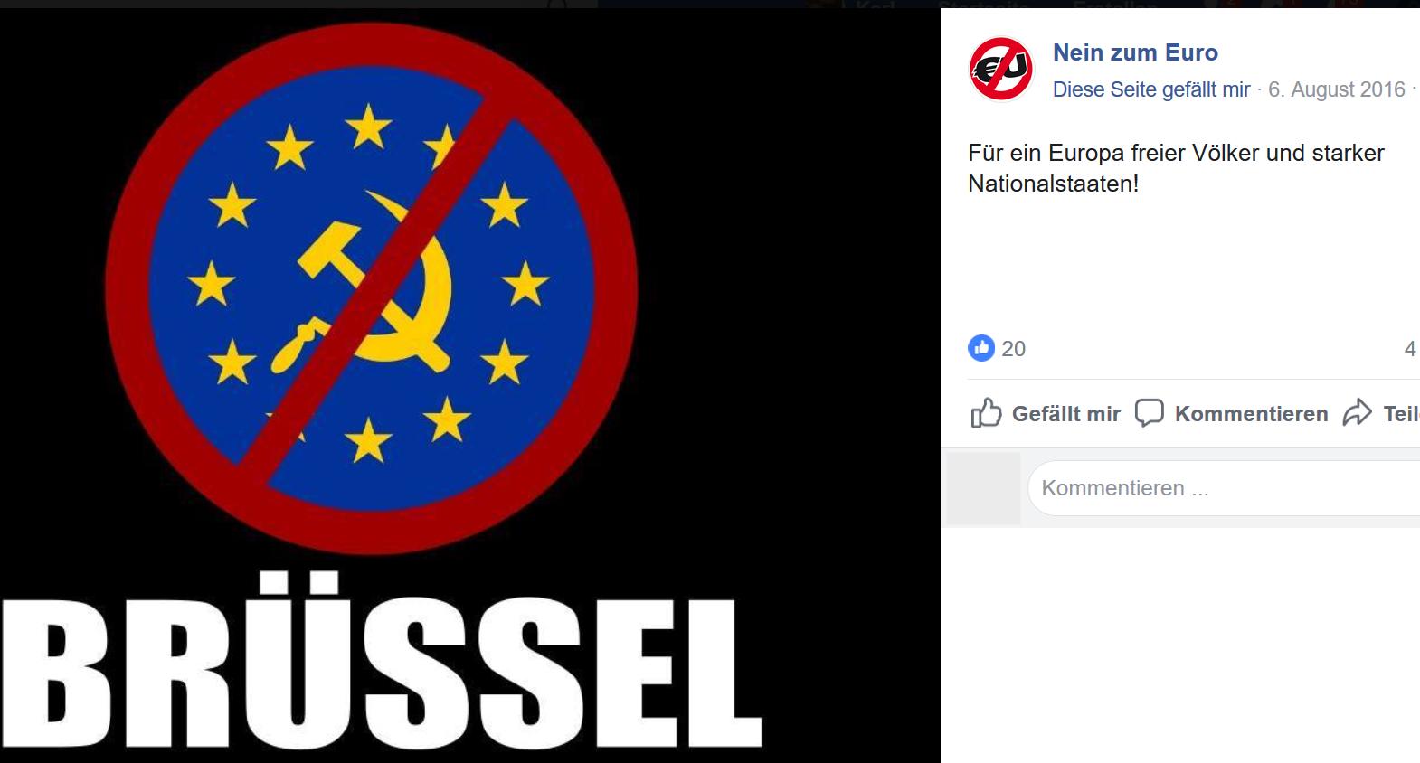 Nein zum Euro: Für ein Europa freier Völker