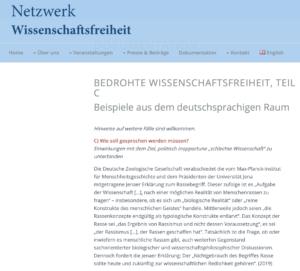 Netzwerk: Rassismus ist Wissenschaftsfreiheit