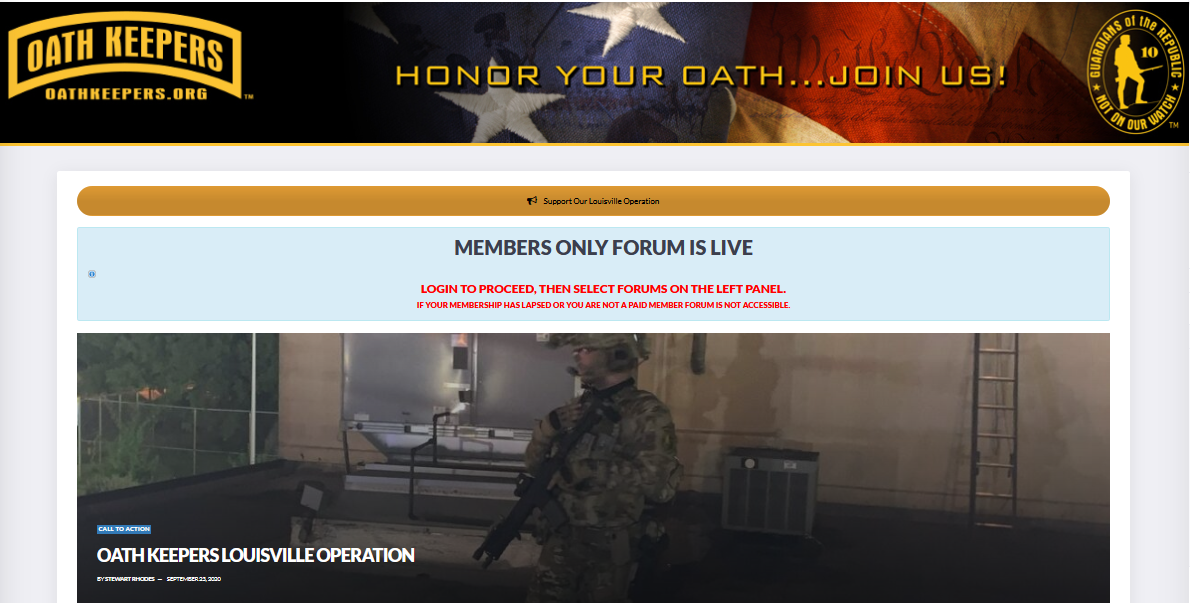 Website Oath Keepers