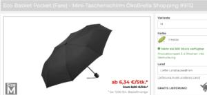 """""""Ökobrella"""" aus China im Handel für 6,34€ (bei 1200 Stk. Bestellmenge)"""