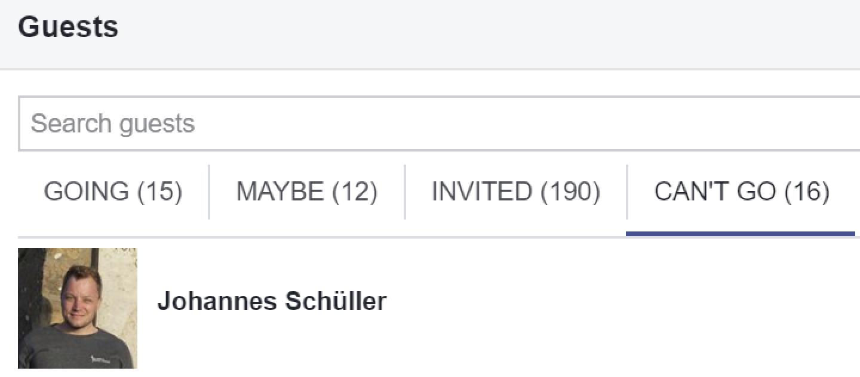 Absage Johannes Schüller (Screenshot Facebook via FPÖ Fails)