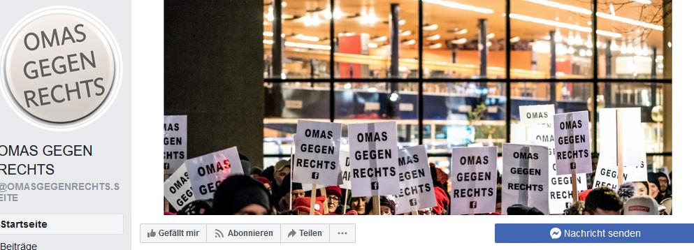 Facebook-Auftritt Omas gegen Rechts