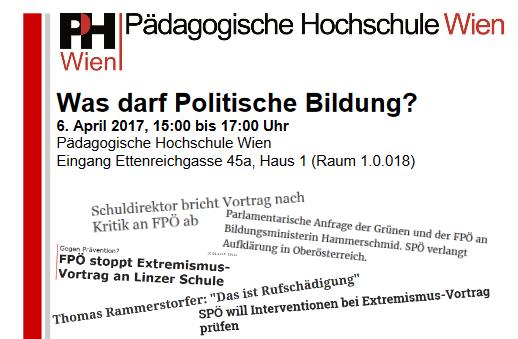 Auch gegen diese Diskussionsveranstaltug ging die FPÖ mit allen Mitteln vor... (Ganze Einladung hier zur Ansicht)