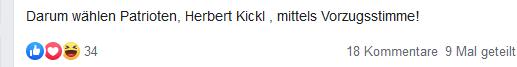 Ripfl ruft zur Wahl von Herbert Kickl auf