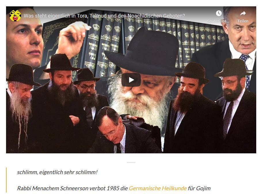Pilhars Antisemitismus: GNM für Gojim verboten