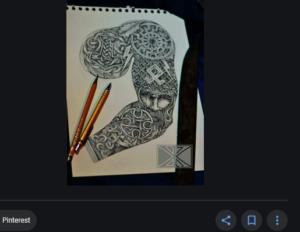 Runen und Schwarze Sonne auf der Pinterest-Pinnwand des Klägers