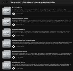 Podcast 5 Jahre OEZ (Spotyfy/Süddeutsche)