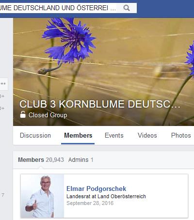 """Podgorschek als Mitglied der geschlossenen Gruppe """"Kornblume"""""""
