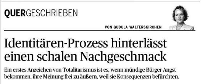 """""""Die Presse"""" Walterskirchen über Identitäre"""
