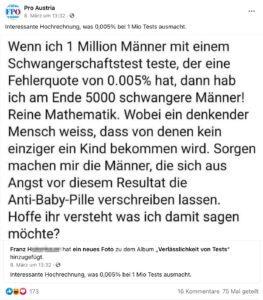 """Die Pro Austria-""""Hochrechnung"""" mit 173 Reaktionen"""