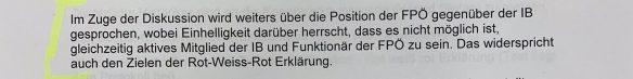 Protokoll FPÖ-Bundesparteivorstand: Position zu Identitären (2018)