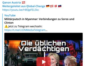 QAnon Austria: Militärputsch Myanmar: Verbindungen zu Soros und Clinton