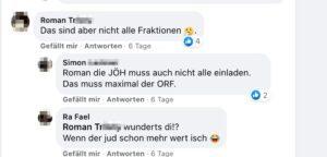 """RFS bei JÖH nicht eingeladen – Ra Fael: """"Wenn der jud schon mehr wert isch"""""""