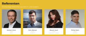 """ReferentInnen beim Kongress der """"Verteidiger Europs"""" in Linz 2016 (Scrennshot Webarchiv)"""