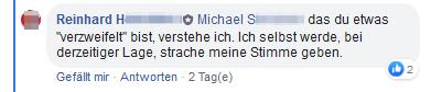 """Gruppe """"Sag ja zu Herbert Kickl und Norbert Hofer"""": Admin Reinhard wird Strache seine Stimme geben"""