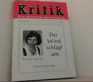 """Renate Schütte, Buch """"Der Wind schlägt um"""""""