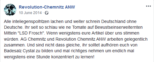 "Revolution Chemnitz 2014: ""intelligenzpolhtzen"""