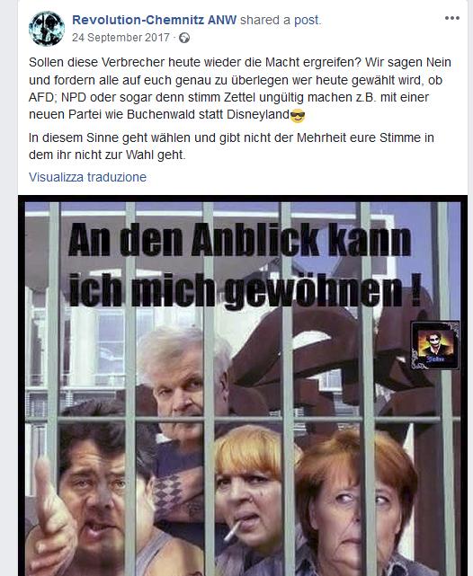 Revolution Chemnitz 2017: Bild PolitikerInnen nach Buchenwald