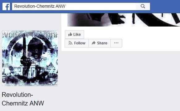 "FB-Seite ""Revolution Chemnitz ANW"""