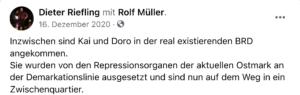 Riefling: Müllers ausgesetzt