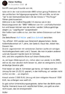 """Riefling zur bevorstehenden Abschiebung der Müllers und Doros """"Erklärung"""""""