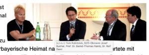 """Rohrböck mit Bucher, Ramb, Deml bei """"Europäisches Investoren Forum Sinn & Invest"""" in Landshut 2012 (Quelle: skylla.at)"""