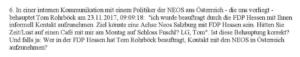 aus dem Fragenkatalog an die FDP Hessen: Thema Neos und Rohrböck