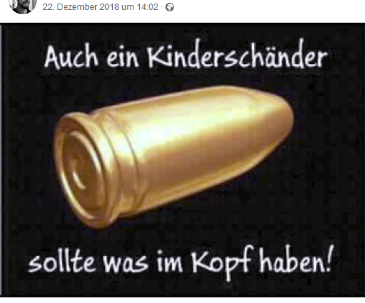 Kinderschänder (Screenshot FB-Profil Roland H.)