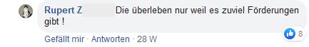 "Rupert Z FPÖ Fan Club: ""zuviel Förderungen"""