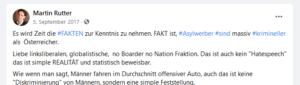 """Rutter: """"Asylwerber sind massiv krimineller als Österreicher"""""""