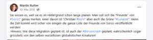 """Rutter 2018: Börsencrash geplant """"von wurzellosen globalistischen Kreaturen"""" - Freunde von Soros (Kern, Lunacek)"""