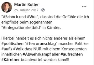 """Rutter 2017: Integrationsleitbild ist ein """"Terroranschlag"""" aufs """"Volk"""""""