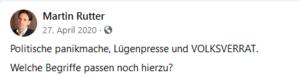 """Rutter 2020: """"Lügenpresse"""", """"Volksverrat"""""""