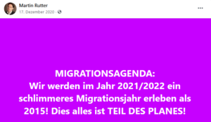 "Rutter 2020: ""Migrationsagenda"", ""Teil des Planes"""