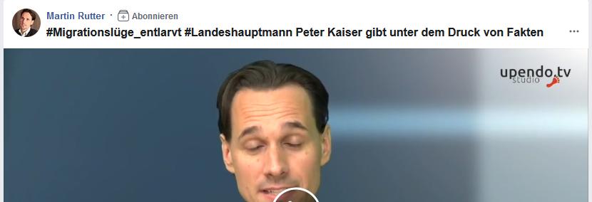 Martin Rutter: Migrationslüge des LH Kaiser (Video 2017)